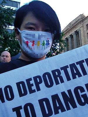 4월23일 호주 난민심사재판소(RRT)에서 난민으로 인정받은 김씨.