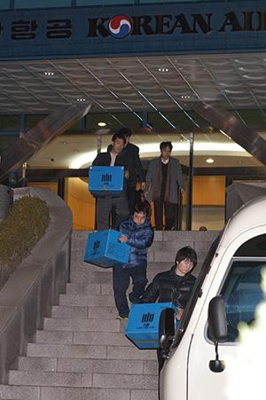 <div align=right><font color=blue>ⓒ시사IN 이명익</font></div>12월11일 검찰이 서울 공항동 대한항공 본사 사무실을 압수수색했다.
