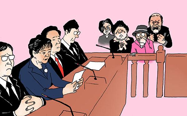박근혜 변호인단의 이상한 이중플레이