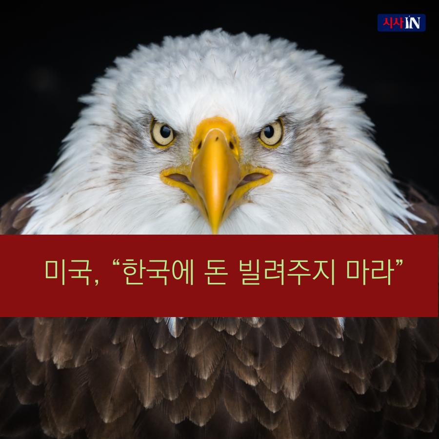 """[카드뉴스] 미국, """"한국에 돈 빌려주지 마라"""""""