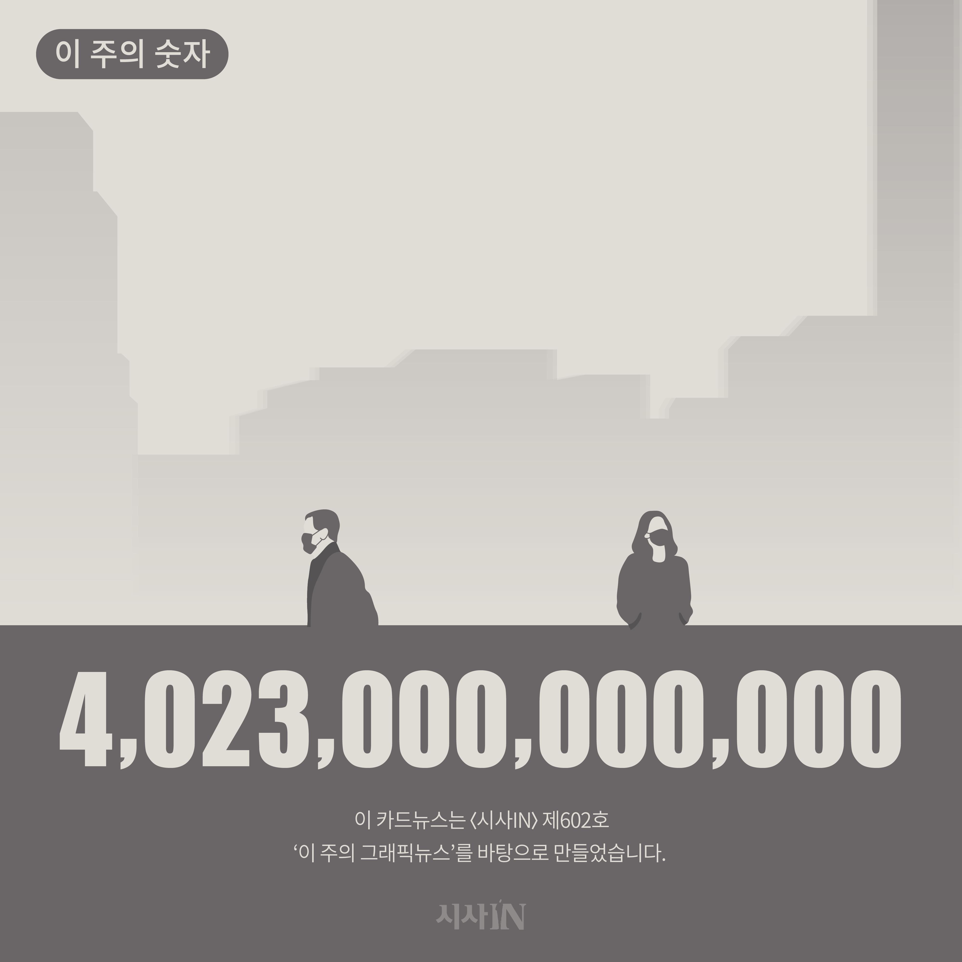 [카드뉴스] 이 주의 숫자 : 4,023,000,000,000