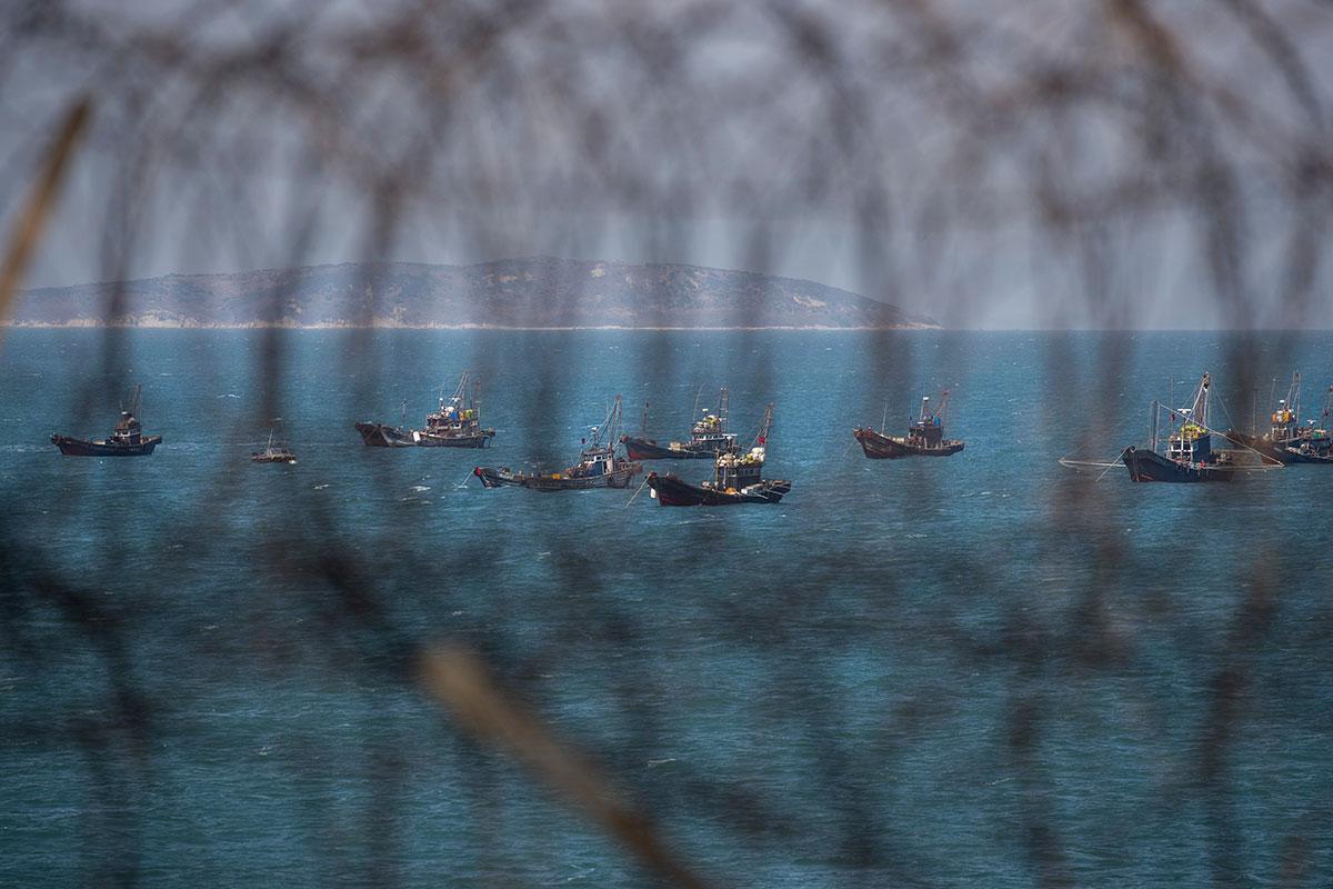 불법 조업 중국 어선 서해 평화수역 '점령'