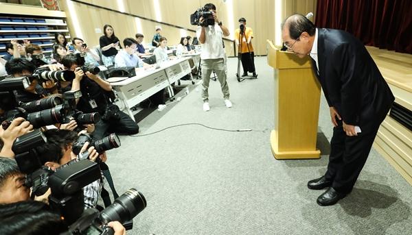 기자들의 시선