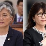 한국 외교장관, 일본 국방장관이 모두 여성이다