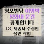 [카드뉴스] 이명박 청와대 문건 공개 13 - 세종시 수정안 물밑 작업